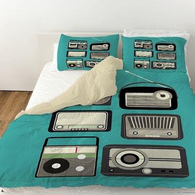 Radios Duvet Cover Size: Queen