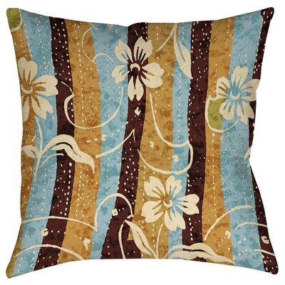 Floral Study in Stripes Printed Throw Pillow Size: 16 H x 16 W x 4 D