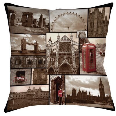 England Indoor/Outdoor Throw Pillow Size: 20 H x 20 W x 5 D
