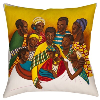 Family Photo Printed Throw Pillow Size: 26 H x 26 W x 7 D