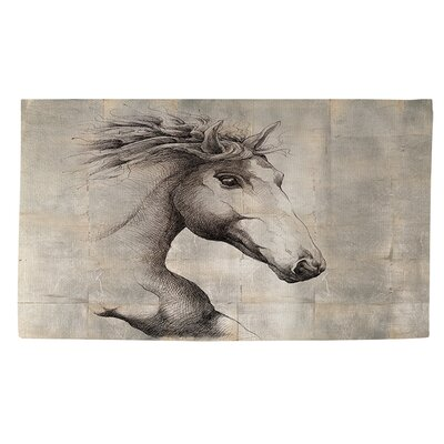 Run with the Wind Grey Area Rug Rug Size: 2 x 3