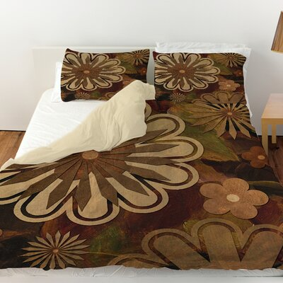 Floral Abstract I Duvet Cover Size: Twin