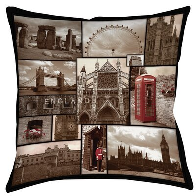 England Printed Throw Pillow Size: 26 H x 26 W x 7 D