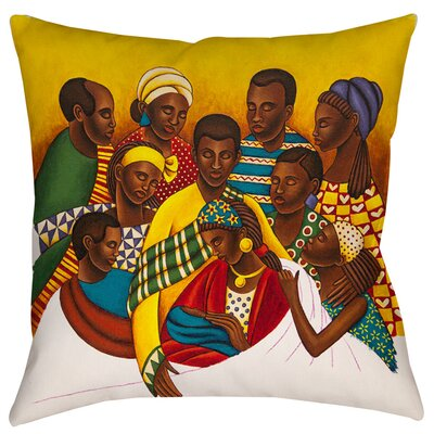 Family Photo Indoor/Outdoor Throw Pillow Size: 20 H x 20 W x 5 D