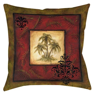 Palm Breezes V Indoor/Outdoor Throw Pillow Size: 16 H x 16 W x 4 D