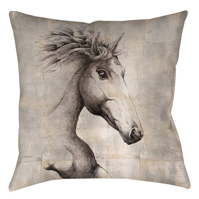 Run with the Wind Printed Throw Pillow Size: 16 H x 16 W x 4 D