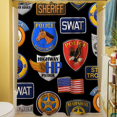 Police Patches Shower Curtain