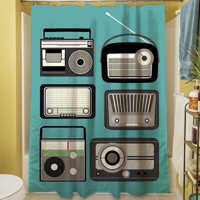 Radios Shower Curtain