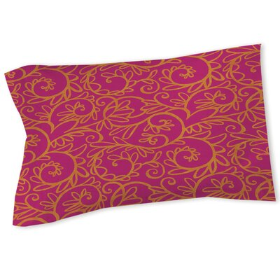 Sandefur Pattern Sham Size: Queen/King, Color: Pink
