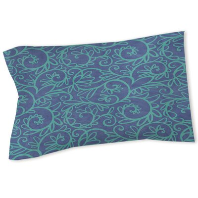 Sandefur Pattern Sham Size: Twin, Color: Blue