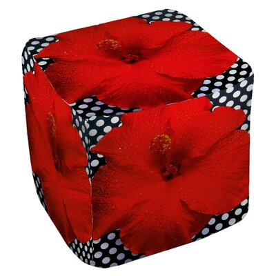 Floral Cube Ottoman