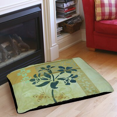 Patterned Collage Blossoms Indoor/Outdoor Pet Bed Size: 28 L x 18 W
