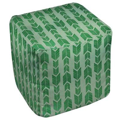 Featherwood Ottoman Upholstery: Green