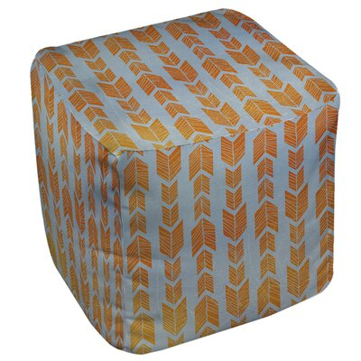 Debarr Pouf Upholstery: Orange