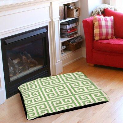 Greek Key 2 Pet Bed Color: Mint, Size: 40 L x 30 W