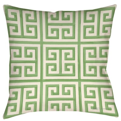 Kimura Outdoor Throw Pillow Size: 18 H x 18 W x 5 D, Color: Mint