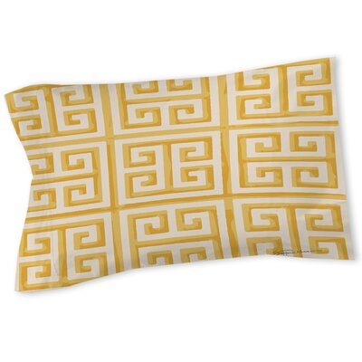 Greek Key 2 Sham Size: Queen/King, Color: Yellow
