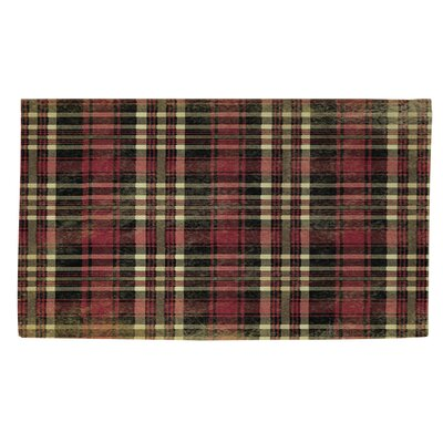 Plaid Red Area Rug Rug Size: 2 x 3