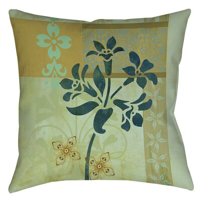 Collage Blossoms Patterned Indoor/Outdoor Throw Pillow Size: 16 H x 16 W x 4 D