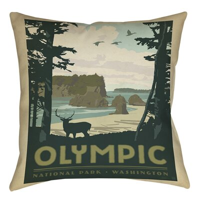 Olympic Indoor/Outdoor Throw Pillow Size: 18 H x 18 W x 5 D