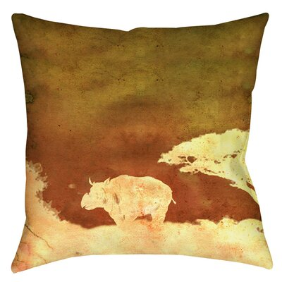 Safari Sunrise 2 Indoor/Outdoor Throw Pillow Size: 16 H x 16 W x 4 D