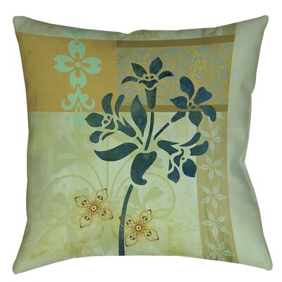 Collage Blossoms Patterned Printed Throw Pillow Size: 14 H x 14 W x 3 D