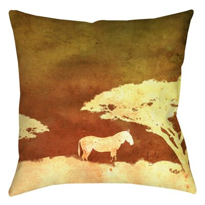 Safari Sunrise 3 Indoor/Outdoor Throw Pillow Size: 16 H x 16 W x 4 D