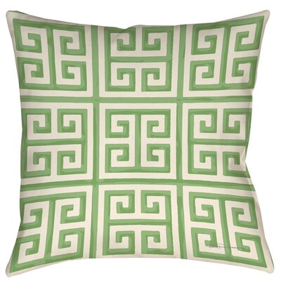 Greek Key 2 Printed Throw Pillow Color: Mint, Size: 26 H x 26 W x 7 D