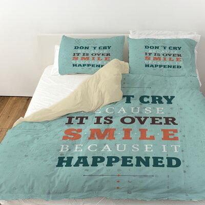 Smile at Past Duvet Cover Size: Queen
