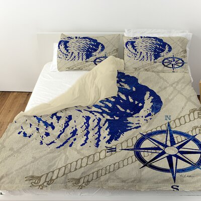 Nautical Rope Duvet Cover Size: King