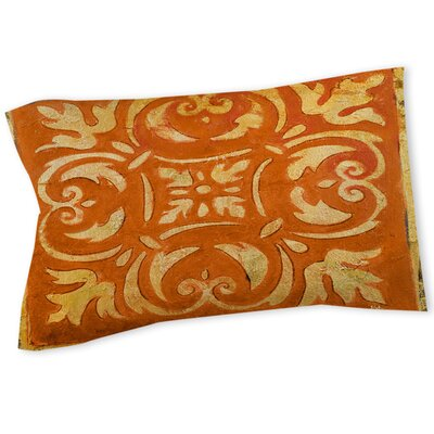 Mosaic Sham Color: Orange, Size: Twin