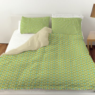 Funhouse Duvet Cover Size: Twin, Color: Green