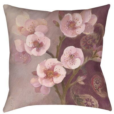 Gypsy Blossom II Printed Throw Pillow Size: 18 H x 18 W x 5 D