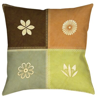Graphic Garden Sage Printed Throw Pillow Size: 26 H x 26 W x 7 D