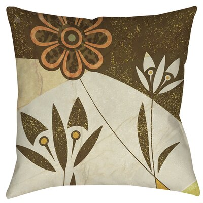 Graphic Garden Savannah Indoor/Outdoor Throw Pillow Size: 18 H x 18 W x 5 D