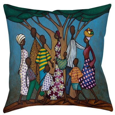Family Tree Printed Throw Pillow Size: 26 H x 26 W x 7 D