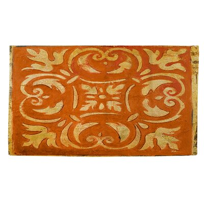 Mosaic Orange/Yellow Area Rug Rug Size: 4 x 6