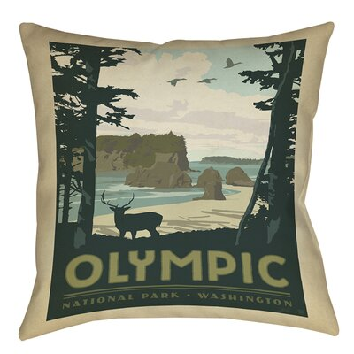 Olympic Printed Throw Pillow Size: 16 H x 16 W x 4 D