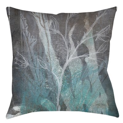 Ombre Wildflowers Indoor/Outdoor Throw Pillow Size: 18 H x 18 W x 5 D