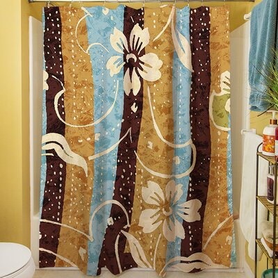 Floral Study in Stripes Shower Curtain