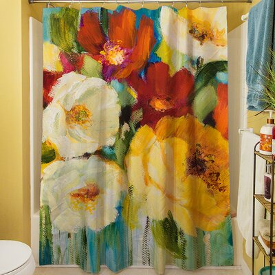 Flower Power I Shower Curtain