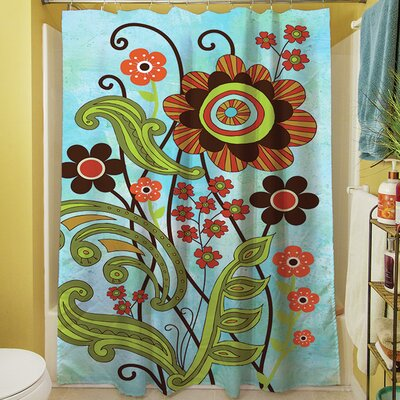 Flower Power Stems Shower Curtain