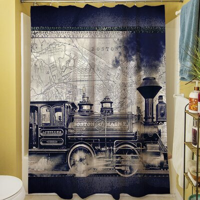 Railway Beantown Shower Curtain