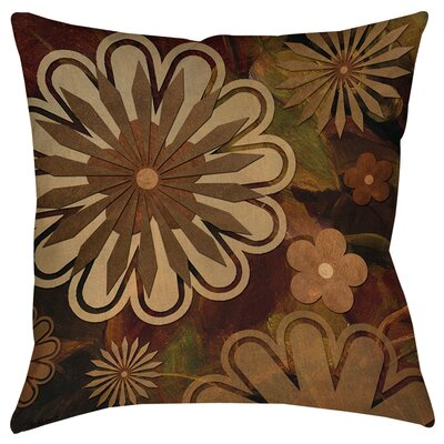 Floral Abstract I Printed Throw Pillow Size: 18