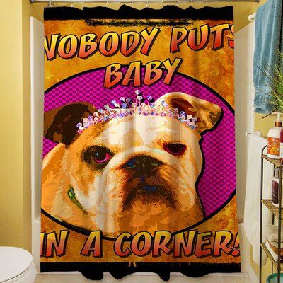 Sassys Dog Baby Shower Curtain