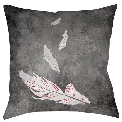 Feather Float Indoor/Outdoor Throw Pillow Size: 18 H x 18 W x 5 D, Color: White