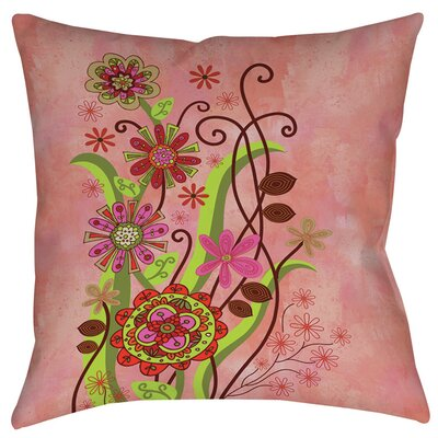 Flower Power Stems Printed Throw Pillow Size: 16 H x 16 W x 4 D