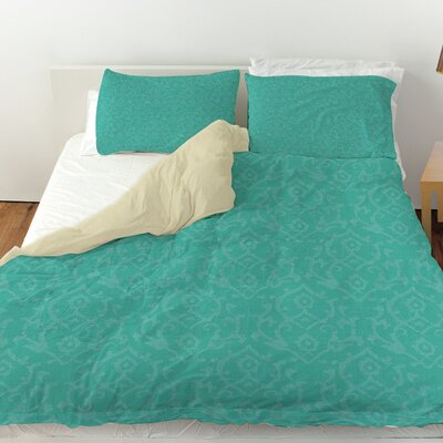 Flowing Damask Duvet Cover Size: King