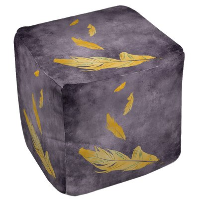 Feather Float Ottoman Upholstery: Gold