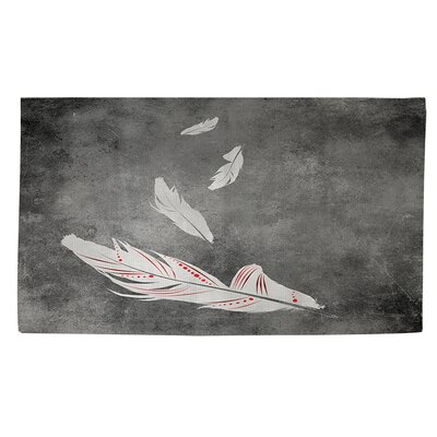 Feather Float White Area Rug Rug Size: 4 x 6